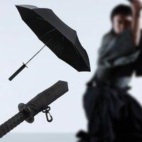 adult rain gear - Creative Folding Umbrella Parasol with Japanese Ninja Dagger Handle Black Rain Gear Household Merchandises