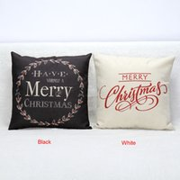 bedding hot pillow - Hot Christmas Decorations for Home Vintage Christmas Letter Sofa Bed Pillow Decoration Navidad