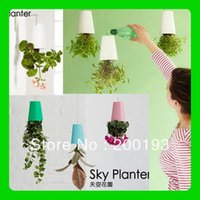 Wholesale New Arrival and Hot selling Magic Recycled Sky Planter for Home Decoration color white pink blue black
