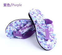 Wholesale Summer Slippers Beach Massage Flip Flops shoes pink blue purple Camouflage Men Women Sandals Top Quality Slipper indoor outdoor flip flops