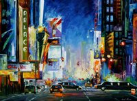 beautiful broadway - Beautiful Leonid Afremov s Palette knife oil painting custom size broadway hand painted on linen