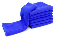 Wholesale 30pcs per Car Washing Cleaning Towel Microfiber Quick Dry x70 Absorbent Car Care Towel Blue Color Factory Low Price