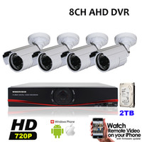 Wholesale 8CH AHD DVR Kit HD P MP Outdoor Waterproof CCTV Cameras Video Surveillance P Security Camera System TB HDD