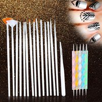 Wholesale New Set Nail Tools Polish Art Design Set Dotting Painting Nail Art Brush Drawing Nail Brush