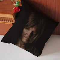 Wholesale Daryl Dixon in The Walking Dead Pattern Cool Fantasy Pillow Cases x20 Inch Party Gift Two sides