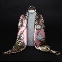 Wholesale Promotion Silk Scarf Necklace Long Neckerchief Scarves Women Printed Silk Muffler Brand Designer Scarfs Silk scarves Printed scarves Multi C