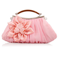 Wholesale New Style Elegant Polyester Flower Design Women Wedding Clutch Evening Bag Purse