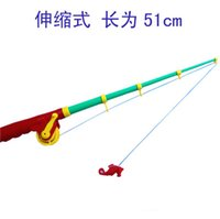 Wholesale Plastic Fishing Rod For Children New Arrival cm Portable Fiber Reinforce Plastic Lure Rod Telescopic Fishing Pole ISP