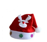 Wholesale Suitable for children from to years old wearing a red Santa Claus hat with high end fleeces cartoon