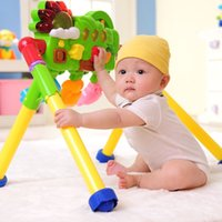 Wholesale Rainbow three with multifunctional music Gym Fitness stand baby baby toy