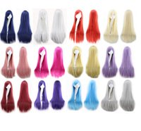 Cheap Colorful Women Ladies cosplay hair wigs Long straight Long Heat Resistant party wigs for girls free shipping