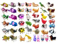 balloon air walkers - DHL FREE Walking Pet Balloon Animal Balloon Pets Air Walker Foil Aluminum Birthday Party toys children Foil Toys Zoo Farm Pets