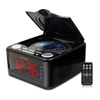 alarm clock headphones - Clocked cd drive mp3 player CD stereo speakers alarm clock usb prenatal Zaojiao WMA music FM radio aux input headphone output
