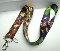 disney wholesale - New Cartoon Character Disney Avengers Phone key chain Neck Strap Keys Camera ID Card Lanyard