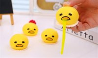 Wholesale 2016 new cute lazy egg toys Vomiting yolk brother Yolk Can Be Eaten Back funny decompression toys Tricky creative toy