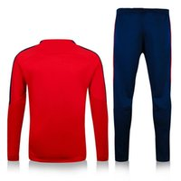 Wholesale Thailand quality PSG red sweater tracksuit set long sleeve match pant sweater tracksuit set soccer training suit