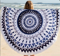 Wholesale summer Round Tassel Beach Towel cm Bath Towel Tassel Decor Geometric Printed Bath Towel styles