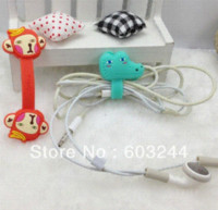 audio monkey - Free Ship D Cartoon Bear Lion Monkey Rabbit Cable Tie Earphone Data Audio Cable Fastener Organizer Smart Muted Line Fixer