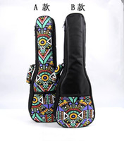Wholesale New design inch soprano concert tenor ukulele bag backpack case soft gig padded pattern creative gifts for kids girl boy