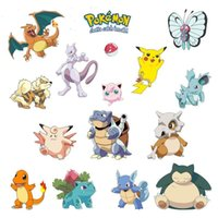 Wholesale 100 Poke Wall Stickers Cartoon D Waterproof Wall Decal for Kids Rooms Home Decorations Pikachu Amination Poster Wall Art Wallpaper