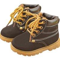 Wholesale Hot Item Children Snow Boots Leather Children Bota Kids Fashion Boys Girls Rubber Boots High Quality Plush Thick Cotton Shoes