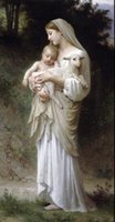 art bouguereau - Bouguereau Innocence Virgin Madonna child Christ sheep Hand painted Portrait Animal Art oil painting On canvas in any size customized