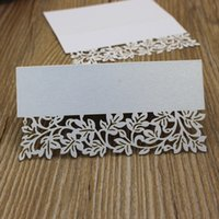 Wholesale Small petal table card white bridal wedding memoes quot x0 quot peal paper seat card place indication card