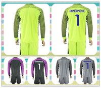 Wholesale New Product Uniforms Kit Long Sleeve Inter Milan HANDANOVIC Soccer Jersey Goalkeeper Green Grey Black Purple Jerseys