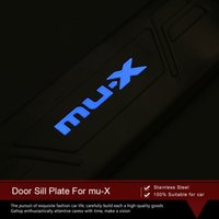 Wholesale High quality and fashion LED Stainless Steel Door Sill Scuff Plate For MU X