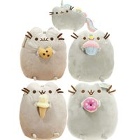 big cookies - 15cm cm Pusheen Fat Cat Plush Toy Cushion Pillow Cute Soft Cookie Icecream Doughnut Cake Rainbow Horse Unicorn Stuffed Animal Doll Gift