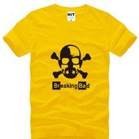 bad skulls t shirts - New Summer Style Breaking Bad Heisenberg T shirts Men Fashion Short Sleeve O neck Cotton Men T Shirt Cool Skull Tee Shirt Big Size S XL