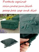 Wholesale x206x108cm Waterproof Outdoor Furniture Set Cover Table Shelter Protects against rain snow sun bird poop tree sap