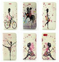 bicycle note cards - Flip Cover Bling Rhinestone Bicycle Diamond Wallet Leather For Iphone g I7 Iphone7 Galaxy Note7 Note Fairy Girl Butterfly Case Pouch