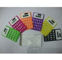 Wholesale Soft silicone foldable solar calculator creative waterproof portable calculator color calculator