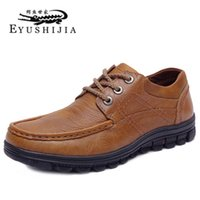 atmosphere shoe - Mens Shoes Leather Shoes The Bulk Of The Classic Hand stitched Leather Business Casual Shoes Stylish Atmosphere Office Leather Shoes