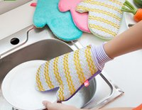 Wholesale Housework clean magic waterproof household gloves natural bamboo fiber bamboo fiber waterproof plastic silk gloves