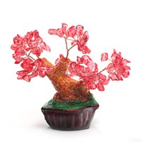 art mascots - natural crystal craft tree the lucky feng shui tree as the mascot bring in wealth and treasure fortune