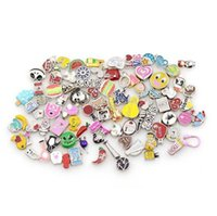 assorted charms - 2016 New Mixed assorted diy alloy floating charms floating locket charms for living glass locket