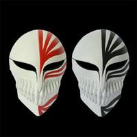 animation schools - Halloween Mask Masquerade for Adult Fashion Animation Bleach Cosplay Kurosaki Ichigo Bankai Resin Mask Two Colors Make up Party Masquerade