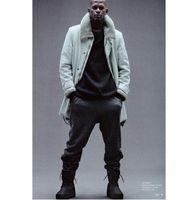 Kanye stile occidentale stagione 1 pantaloni da jogging vestiti pantaloni HipHop kpop Marca sovradimensionato cerniera casuale pantaloni a matita Label maschile