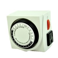 Wholesale UL LISTED HOUR DUAL OUTLET GROUNDED HYDROPONIC GROW LIGHT TIMER
