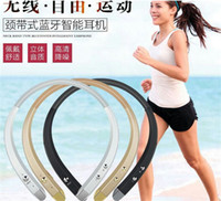 Wholesale HBS Stereo Earphone Bluetooth Headset Earphone Wireless Neckband Sports Headphones For Samsung S7 Note iphone s Plus i7 plus
