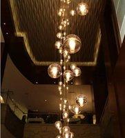 art tom - 1set LED Crystal Glass Ball Pendant Lamp leds heads ower SMeteor Rain Ceiling Lights Meteoric Shtair Bar Droplight Chandelier Lighting