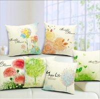 backrest pillow case - 2016 Fresh Flowers Hand painted Modern Minimalist Sofa Printed Cushion Back Windows Backrest Nordic Elegant Pillow Case Shell Animal Print
