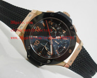 asia stainless steel - Luxury Top Quality Classic Series K Rose Gold mm Ceramic Bezel Asia ETA Movement Chronograph Mens Watch Men s Watches