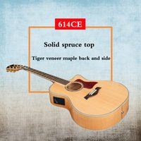 Wholesale Hot Sell Solid Spruce acoustic guitar CE Pearl inlay Maple side and back acoustic electric guitar in stock guitars