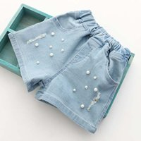 Cheap Girls Summer Shorts Kids Pants Ripped Jeans Children Shorts Korean Girl Dress 2016 Denim Shorts Child Clothes Kids Clothing Lovekiss C24006