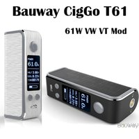 lock box - Authentic Bauway CigGo T61 Box Mod E Cigarette Vape Mod VW VT BYPASS Mod With OLED Screen Lock System
