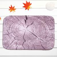 Wholesale Coral Fleece Floor Mat Purple Stump Non slip Ground Mats Bathroom Carpet Bedroom Door Soft High Quality Floor Mat x cm