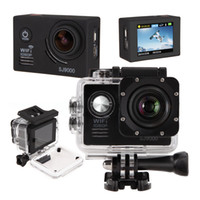 Wholesale US Stock Waterproof Sports Camera SJ9000 quot Wifi Full HD P View Car Bike Helmet Cam DV Action Camera NTK96655 AR0330